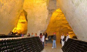 Taittinger chalk cellar 2