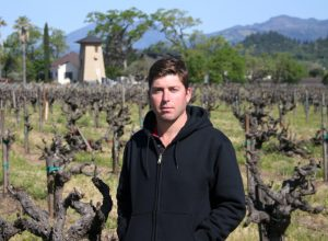 Dave Phinney in his vineyard
