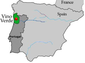Vinho Verde map