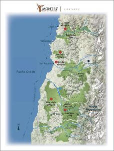 Map of Viñas Montes vineyards