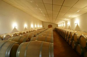 Château Penin barrel aging room